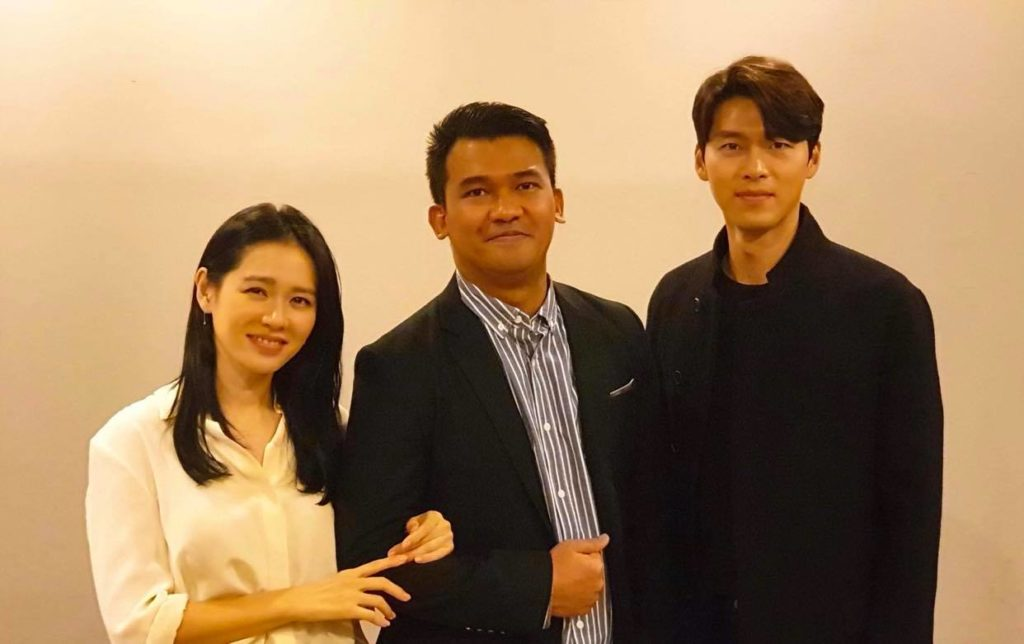 Christian Lagahit with Son Ye-jin and Hyunbin for The Negotiation (2018).